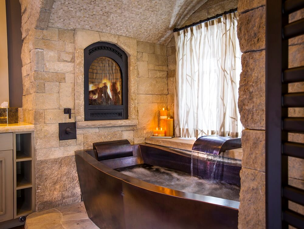 freestanding soaking tub for two. Copper Soaking Tub with Dark Patina Two Person Bathtub  Rectangular Diamond Spas