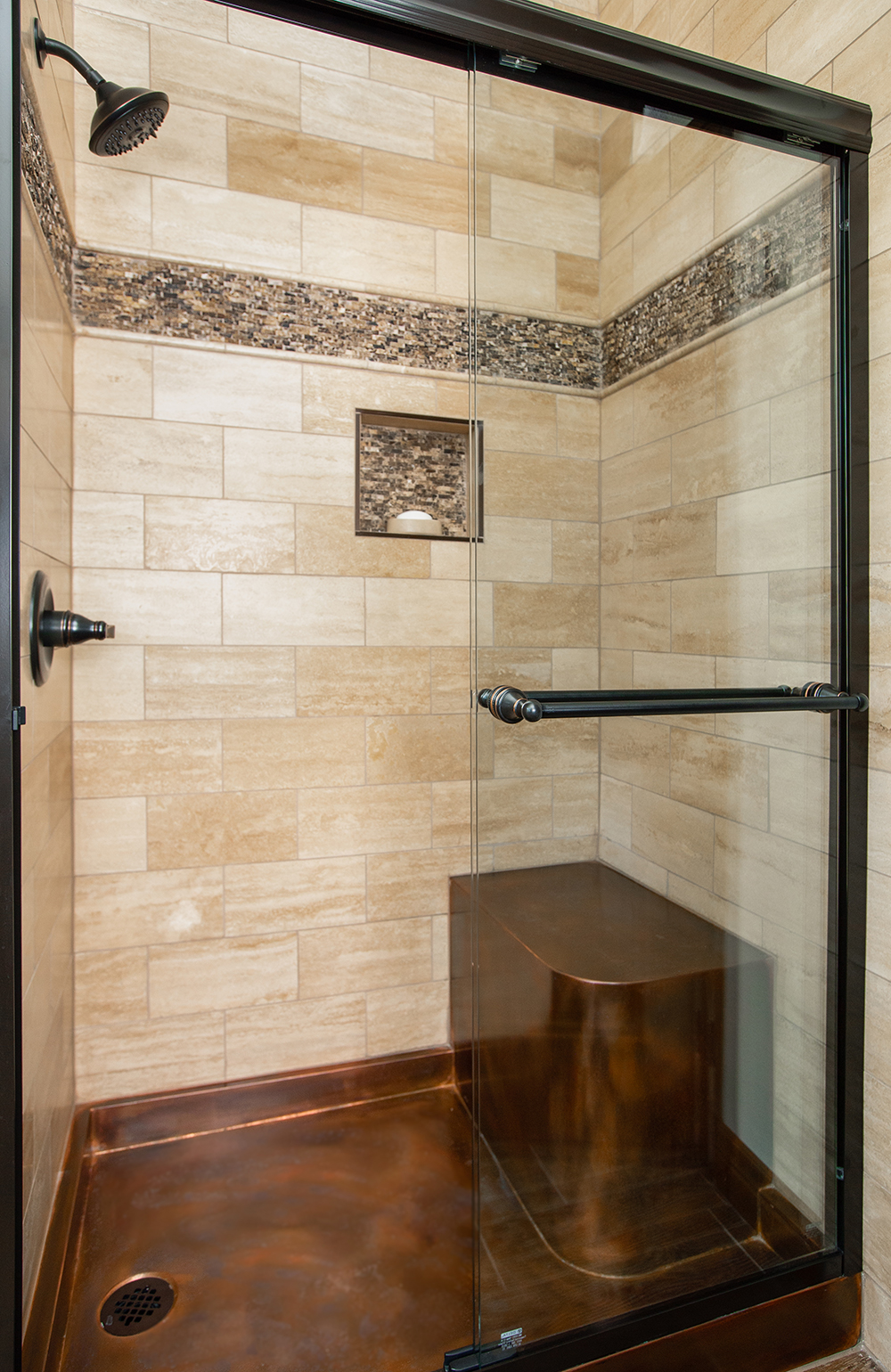Copper Shower Base 60 X 40 4 With 15