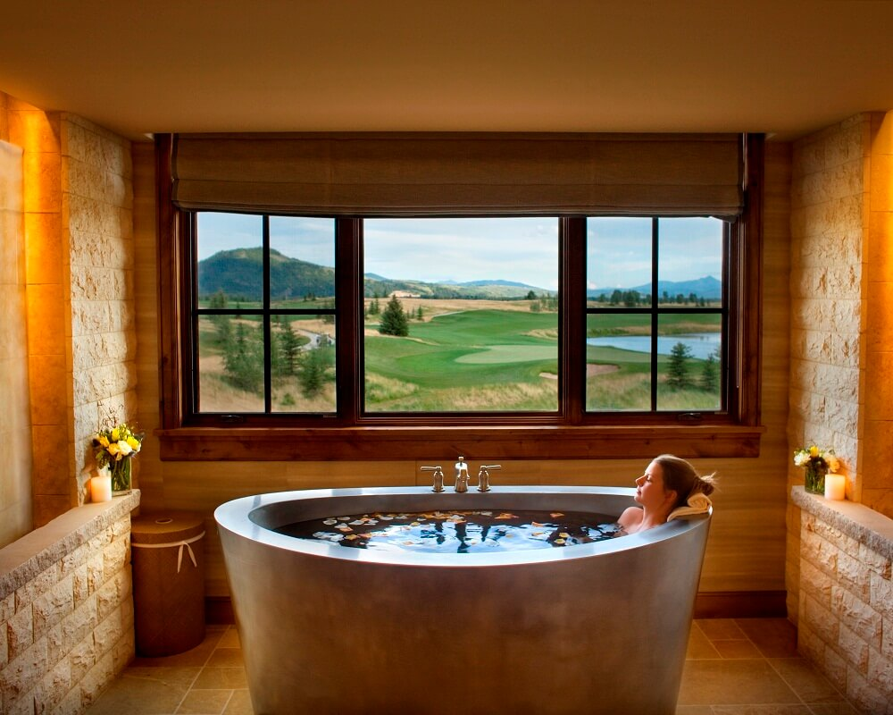 japanese soaking tub for two. Shooting Star Ranch Resort and Villas  Jackson Hole Wyoming Stainless Steel Elliptical Japanese Soaking Tubs Baths Outdoor Tub